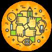Zusammenarbeit, Teamwork, CrowdFunding