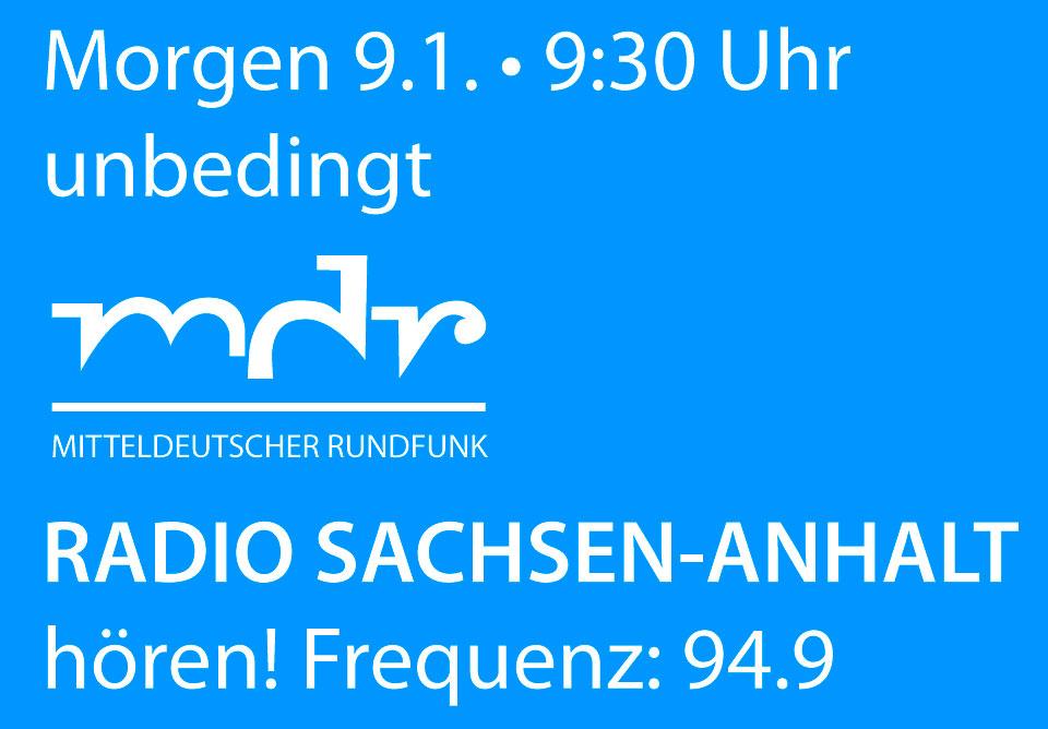 MDR Radio Sachsen-Anhalt, DeutschLand-Riegel und blackbar, Interview wird gesendet