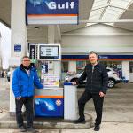 Diese Gulf-Tankstelle in Tangermünde führt jetzt den DeutschLand-Rigel und den blackbar Riegel.