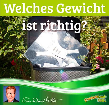 Welches Gewicht ist richtig? Beitrag von Sven-David Müller für DeutschLand-Riegel