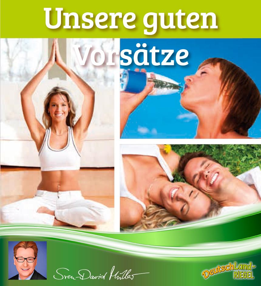 Gute Vorsätze, Sven-David Müller, DeutschLand-Riegel, Beitrag zur Gesunfheit, Sport, Fitness