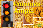 Pommes frites, rot - weiß, gesund?, Ampel, EU, Kennzeichnung via Farbtabelle