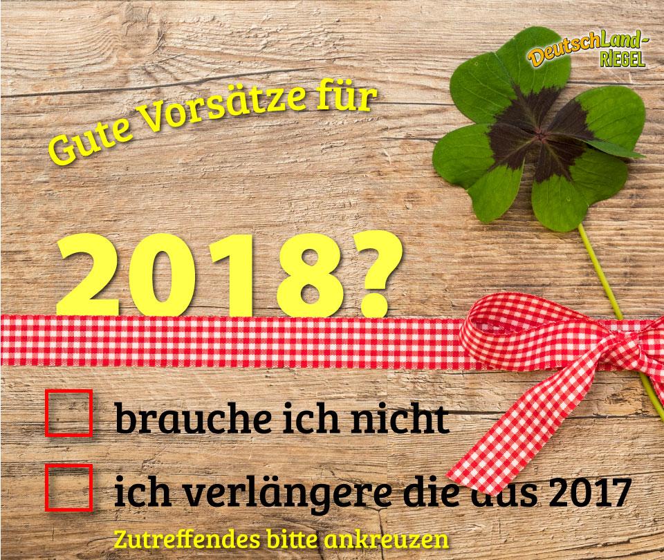 Gute Vorsätze für 2018?