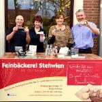 erste Verkostung bei Olaf Kersten, Feinbäckerei Stehwien, Tangermünde, DeutschLand-Riegel