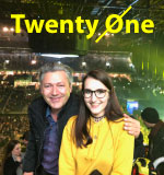 Amy und Andreas beim Konzerterlebnis in Berlin, beim Besuch der Twenty One Pilots