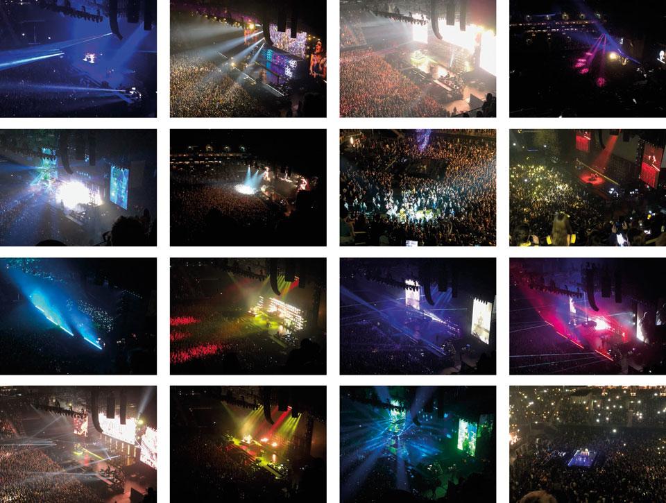Bildauswahl, Fotos vom Twenty One Pilots Konzert in Berlin, es ist fast nichts erkennbar, aber man kann vielleicht etwas nachempfinden, welche Lightshow die Zuschauer erfreut hat