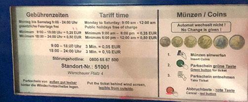 Parkscheinautomat in Berlin