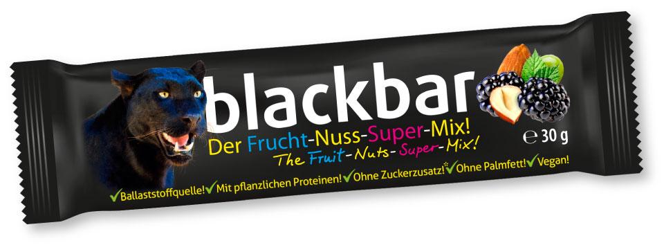 blackbar, der Riegel, zum Anbeißen, für den gesunden Genuss zwischendurch