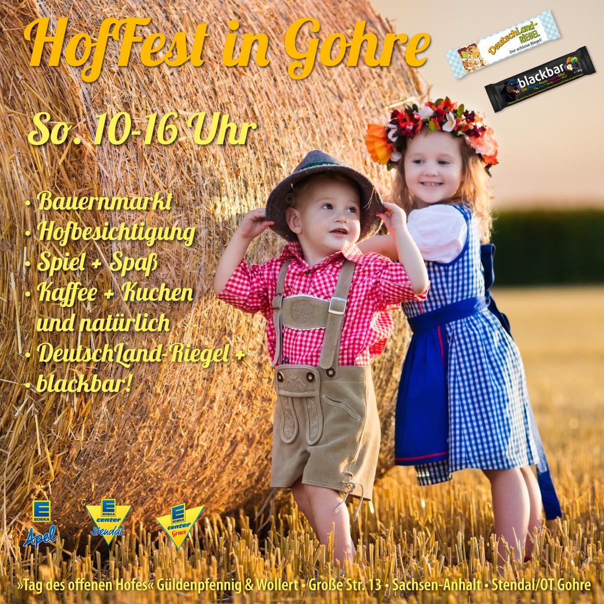 Hoffest, Gohre, Sachsen-Anhalt, Hofbesichtigung, Kaffee, Kuchen, Landfrauen, Spiel, Spaß,Bauernmarkt, Landluft, deutschlandriegel, blackbar
