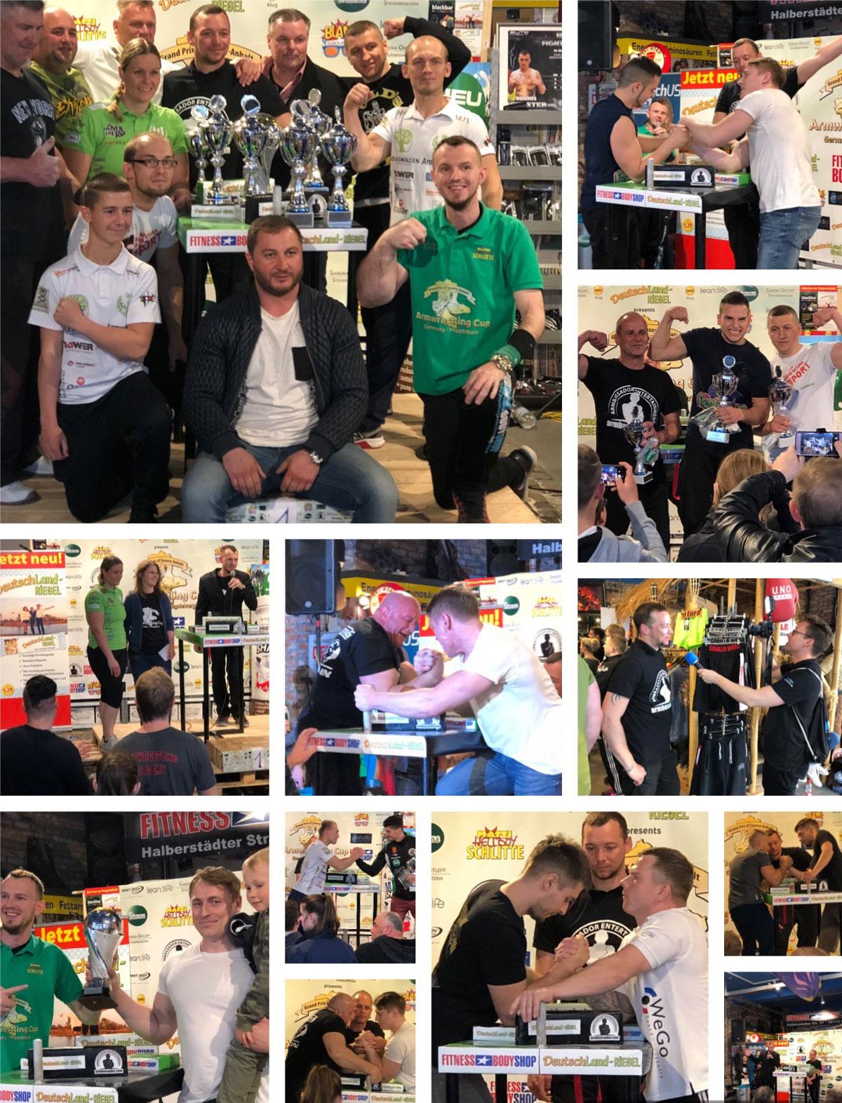 Armwrestling Cup Germany, Fotos, Collage, Bilder, Armdrücken, Wettkampf, Turnier, Deutschland, Magdeburg, 2019