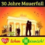 Tag der Deutschen Einheit, 30 Jahre Mauerfall, Herzlichen Glückwunsch!