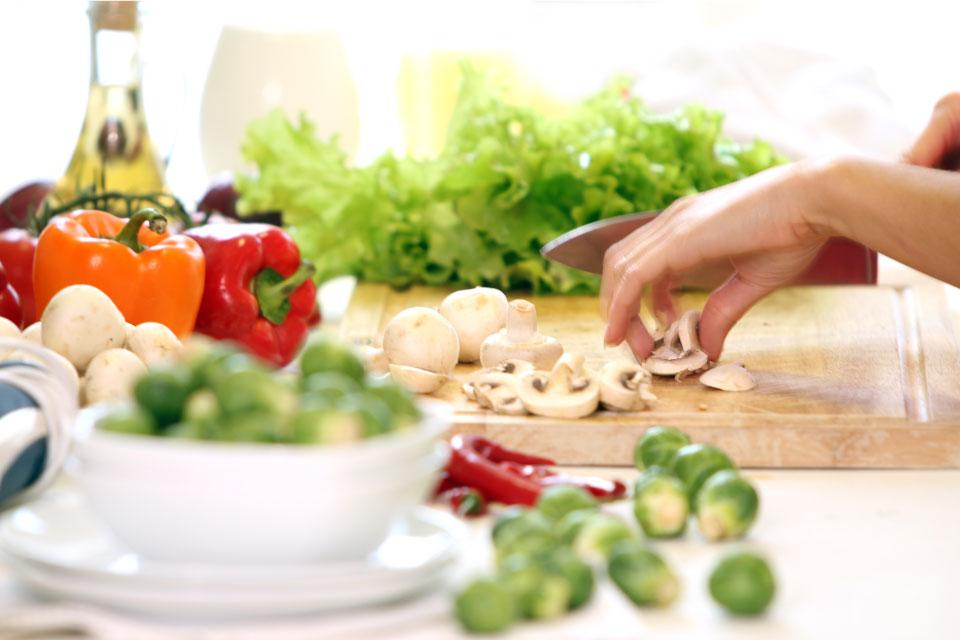 gesund Kochen, gesunde Nahrungsaufnahme, die Zubereitung von Speisen
