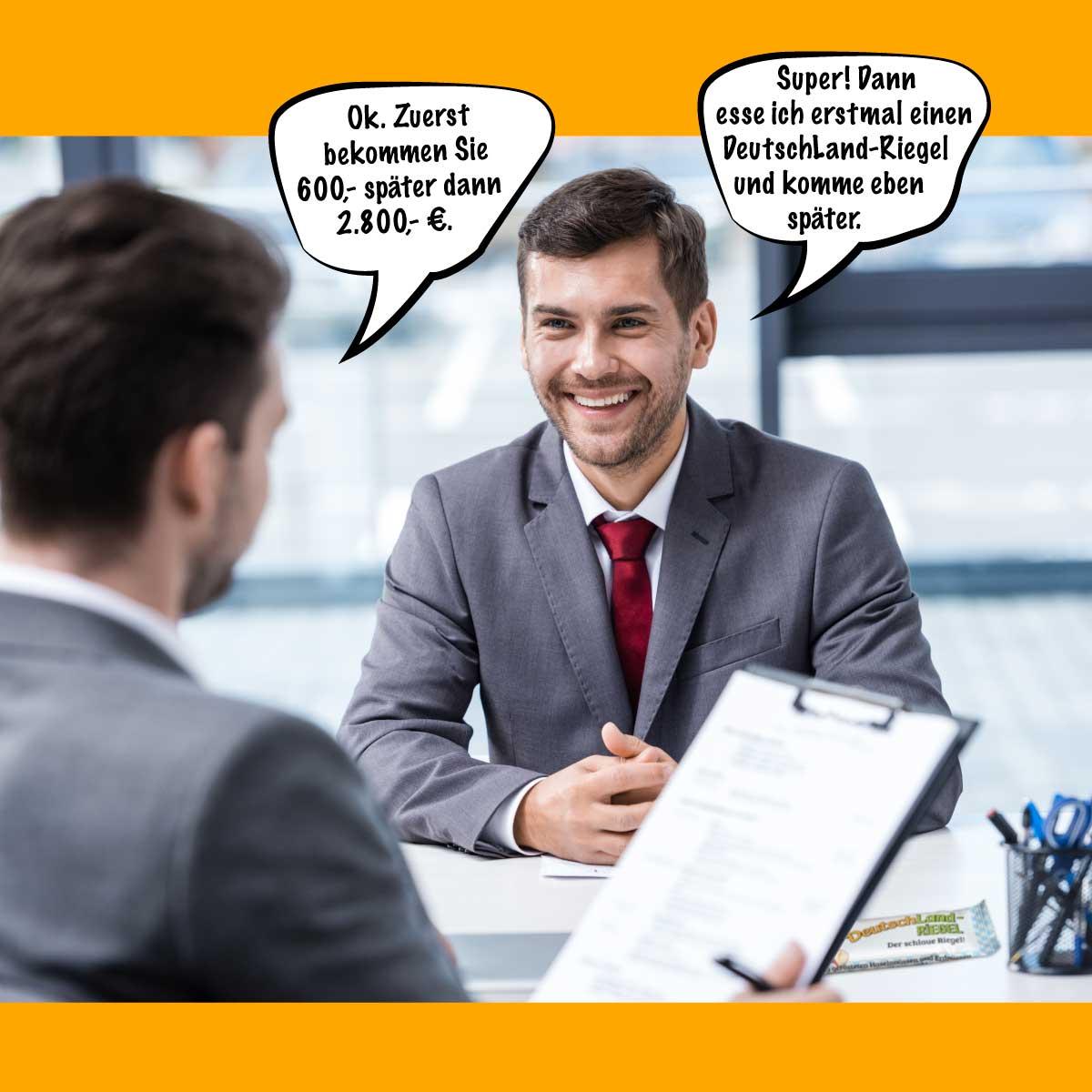 Meme, Bewerbungsgespräch, Wenns ums Geld geht, locker bleiben, Spaßm Fun, lustig