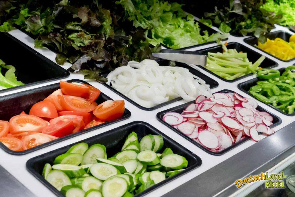 Salat Bar, natürliches Essen, schnell verfügbar, eine gute Alternative, gesunde Ernährung