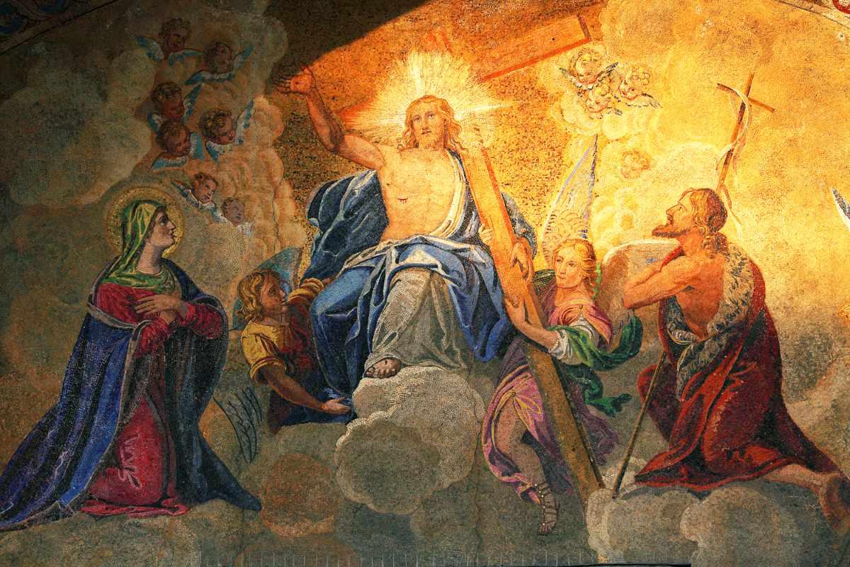 Christi Himmelfahrt, Mosaik in der Basilika des heiligen Markus