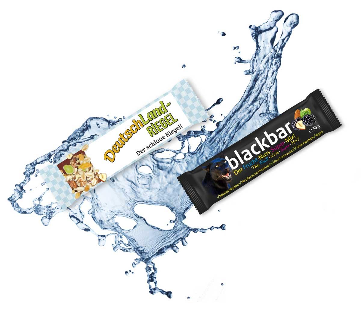 Deutschland-Riegel, blackbar, gesundes Wasser