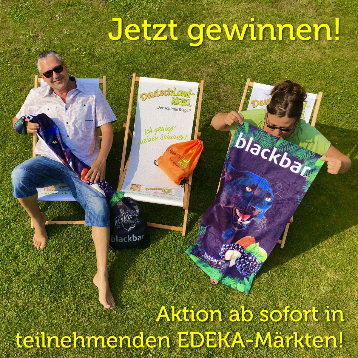 Ihr könnt ab sofort in teilnehmenden EDEKA-Märkten eine schicke Strandliege, zusammen mit einem schicken Badetuch und einem tollen Sportbeutel gewinnen!